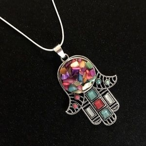 Jewelry - New Hamsa Necklace with sterling silver chain